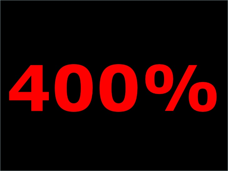 The 400% Rule